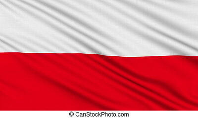 Polish flag, with real structure of a fabric