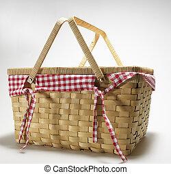 cestería, picnic, cesta