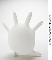 Inflated Rubber Glove