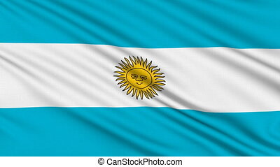 Argentinian flag, with real structure of a fabric
