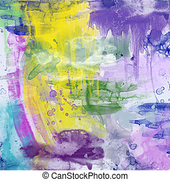 Water colour background - Paper impregnated with different...