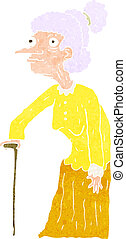 cartoon old woman
