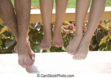 close up of bare feet