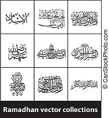 Ramadhan Kareem vectors variations (translation Generous...