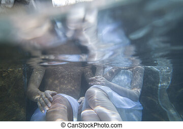 couple in hot spring