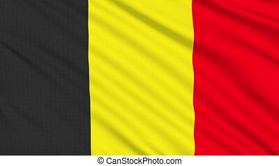 Belgian flag, with real structure of a fabric