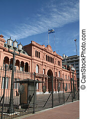 Casa Rosada, Pink presidential palace in Buenos Aires,...