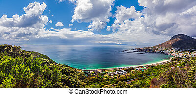 Panoramic view of Capetown, majestic scene of coastal...