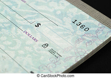 Checks - Stock pictures of checks used as a form of payment
