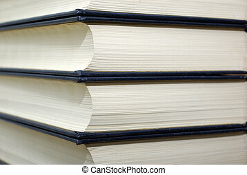 Stack of old books for texture and background.