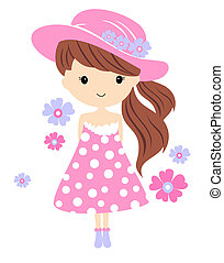 Cute girl vector illustration