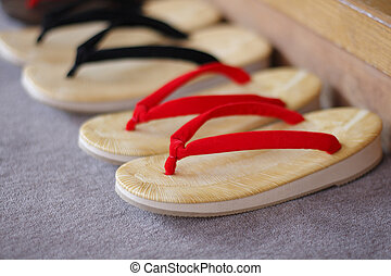 Japanese sandals put in order