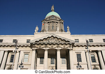 Dublin landmark - Custom House - ornate landmark of Dublin,...