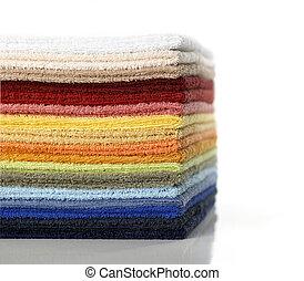 towels pile multicolors