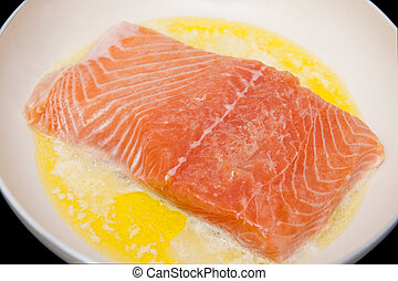 Salmon in the frying pan