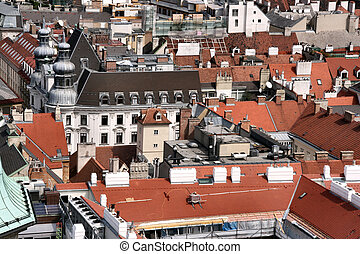 City roofs - Vienna - city roofs seen from the top of...