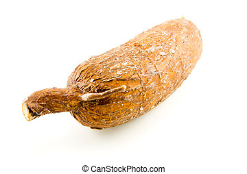 Yuca Root - single whole brown wrinkled and cracked yuca...