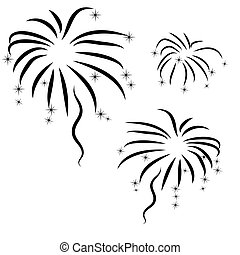 silhouette of abstract firework