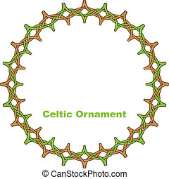 Celtic round frame. Vector illustration.