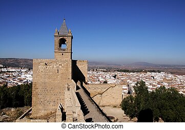 Castle tower, Antequera, Spain - Castle keep tower torre del...
