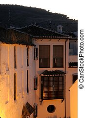 Townhouses at dusk, Antequera - Townhouses at dusk,...