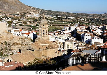 Town rooftops, Loja, Spain. - View over the town rooftops...