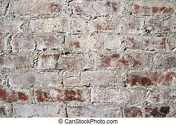 Very old red brick wall in Cairo. Textured background.