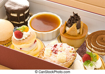 Cake in take-away container