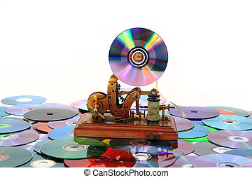 old telegraph as music player