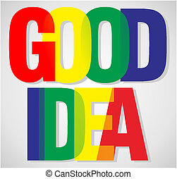 good idea typo illustration design - good idea illustration...