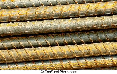 iron bars - oxidated bars of iron. photo image