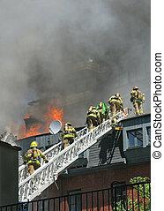 bomberos, escalera