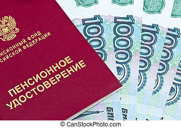 Pension certificate and money