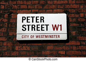 London street - Peter Street in London City of Westminster