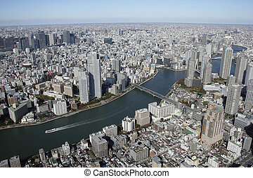 Aerial view of Chuo-ku areas