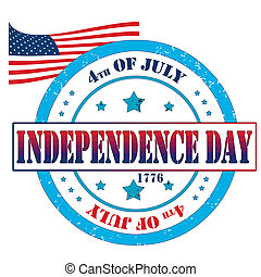 Independence day - Grunge rubber stamp, labbel independence...