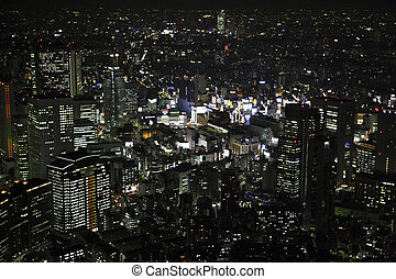 Aerial view of Shibuya-ku