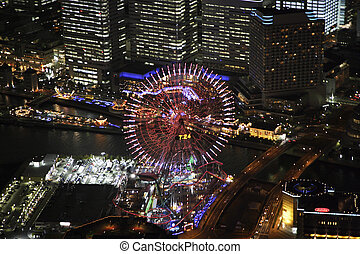 Aerial view of Minatomirai areas