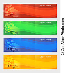Vector Horizontal Banner 234 x 60. Eps 10
