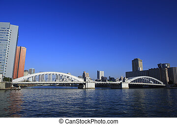 Sumida River and Cityscape of Kachidoki