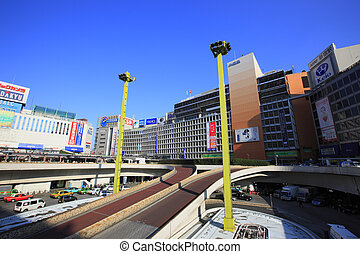 View of Shinjuku StationWest Exit Rotary Area