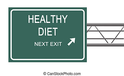 Road sign to healthy diet