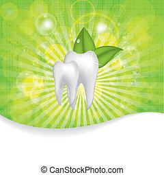 Estratto, vettore, dentale, illustrazione, denti