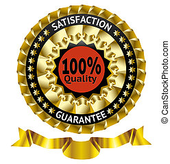 Satisfaction guarantee vector label