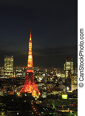 Night View pf Tokyo Tower and Roppongi Area