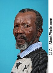 Senior African Man - Portrait of a senior African man with a...