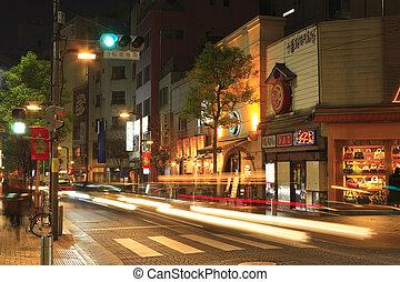 Night View of Azabu-juban shopping mall