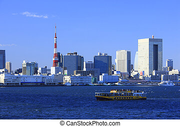 Tokyo Tower and water-bus