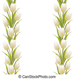 Tulip spring flowers bouquet for your card design....