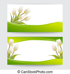 Tulip spring flowers bouquet for your happy day illustration...